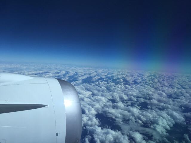 オーストラリア上空の飛行機からの景色